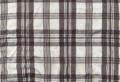 Plaid fabric. Black and white plaid fabric for backgrounds Royalty Free Stock Photography