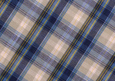 Plaid fabric. In blue and gray colours royalty free stock photos