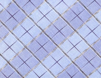 Plaid fabric. Blue plaid fabric with large cells royalty free stock image