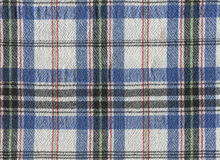Plaid fabric. Blue and white plaid fabric for backgrounds Stock Photography