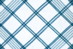 Plaid fabric. In blue and white colours royalty free stock photos