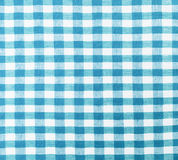 Plaid fabric. Blue and white plaid textile fabric background Royalty Free Stock Image