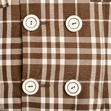 Plaid fabric cloth fragment Royalty Free Stock Image