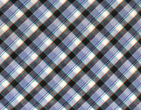 Plaid fabric. In cool colours stock photo
