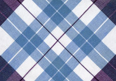 Plaid fabric. In cool colours stock photos