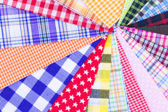 Plaid fabric. Different color of many checkered plaid fabric background Stock Image