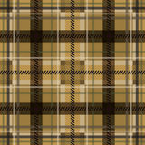 Plaid fabric in mustard color. Stock Photos
