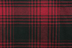 Plaid Fabric. Red plaid fabric background and texture Royalty Free Stock Photography