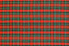 Plaid fabric. Red and green plaid fabric Royalty Free Stock Photo