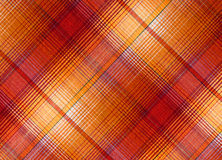 Plaid fabric. In red and orange colours royalty free stock photo