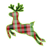 Plaid fabric reindeer Royalty Free Stock Image