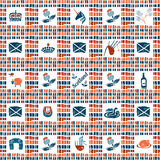 Plaid fabric seamless pattern, big scottish set Stock Photos
