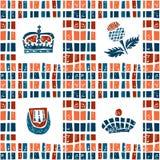 Plaid fabric seamless pattern, scottish set Stock Photography