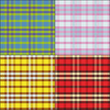The plaid fabric_01 Stock Photography