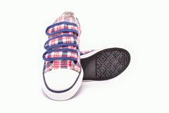Fabric shoes with rubber soles Stock Photo