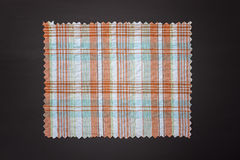Plaid fabric swath. Closeup of plaid fabric swath Royalty Free Stock Images