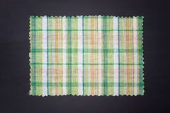 Plaid fabric swath. Closeup of plaid fabric swath Royalty Free Stock Photography