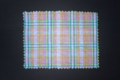 Plaid fabric swath. Closeup of plaid fabric swath Stock Photos