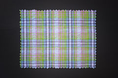 Plaid fabric swath. Closeup of plaid fabric swath Stock Photography