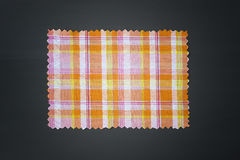 Plaid fabric swath. Closeup of plaid fabric swath Royalty Free Stock Photo
