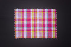 Plaid fabric swath. Closeup of plaid fabric swath Royalty Free Stock Image