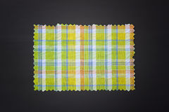 Plaid fabric swath. Closeup of plaid fabric swath Stock Image