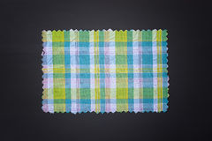 Plaid fabric swath. Closeup of plaid fabric swath Royalty Free Stock Photos