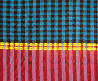 Plaid fabric. Texture of plaid fabric for background Royalty Free Stock Photos