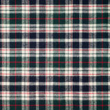 Plaid fabric texture. Close-up of plaid fabric texture background Stock Photo
