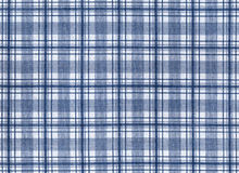 Plaid fabric. White with blue plaid fabric royalty free stock images