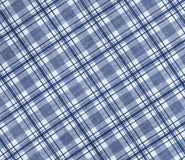 Plaid fabric. White with blue plaid fabric royalty free stock image
