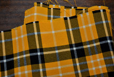 Plaid fabrics Stock Photo