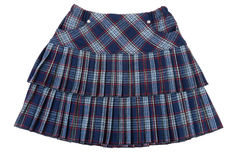 Plaid feminine skirt Royalty Free Stock Images