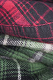 plaid flannel fabric cloth Stock Photo
