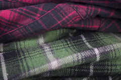 plaid flannel fabric cloth Royalty Free Stock Photography