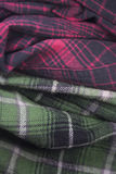 plaid flannel fabric cloth Royalty Free Stock Photos