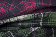 plaid flannel fabric cloth Stock Image