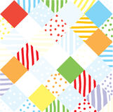 Plaid funny seamless patchwork Royalty Free Stock Image
