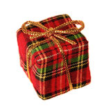 Plaid gift box Royalty Free Stock Photography