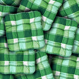 Plaid Green Cushions Royalty Free Stock Photos