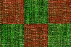 Plaid grunge rouge et vert Photographie stock libre de droits