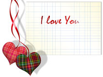 Plaid hearts and checkered paper Stock Photography