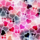 Plaid hearts Stock Image