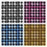 Plaid Houndstooth Stock Afbeeldingen