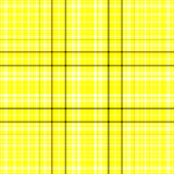 Plaid jaune et noir Photo stock