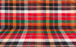 Plaid or loincloth fabric background Royalty Free Stock Photos