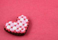 Plaid love cookie. Stock Photo