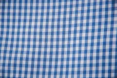 Plaid material. pattern fabric texture square blue. Stock Photography