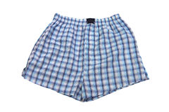 Plaid multicolored men's briefs (boxers) Stock Image