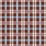 Plaid, naadloos bruin patroon, vector Stock Afbeelding